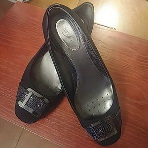 Alfani Step n Flex Gunmetal Buckle Shoes